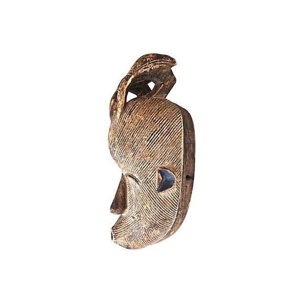 Image of Songye Congo Wood Mask with Birds