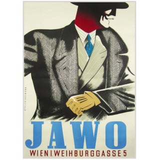 1940s Original Austrian Jawo Fashion Poster