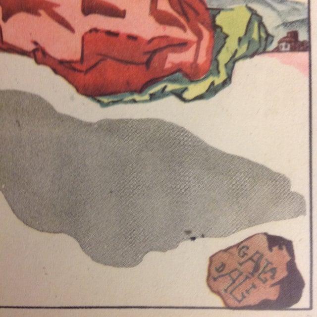 Salvador Dali Original 1947 Color Lithograph - Image 3 of 3