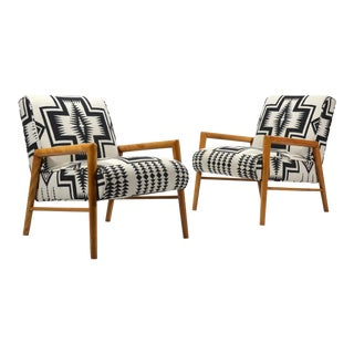 Leslie Diamond Pair of Lounge Chairs by Conant Ball