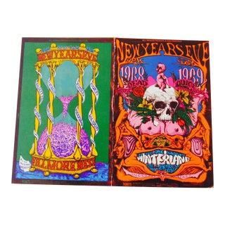 Vintage Psychedelic Fillmore East Postcard