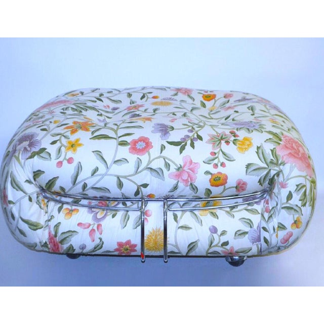 A. Tobia Scarpa for Cassina Floral Sorina Ottoman - Image 2 of 3