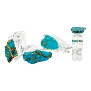 Turquoise Jasper Napkin Rings - Set of 4