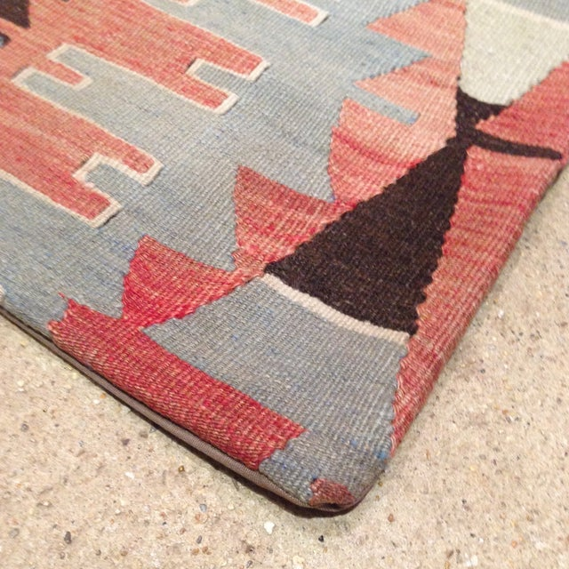 Image of 16 X 16 Vintage Kilim Pillow in Brown & Blue