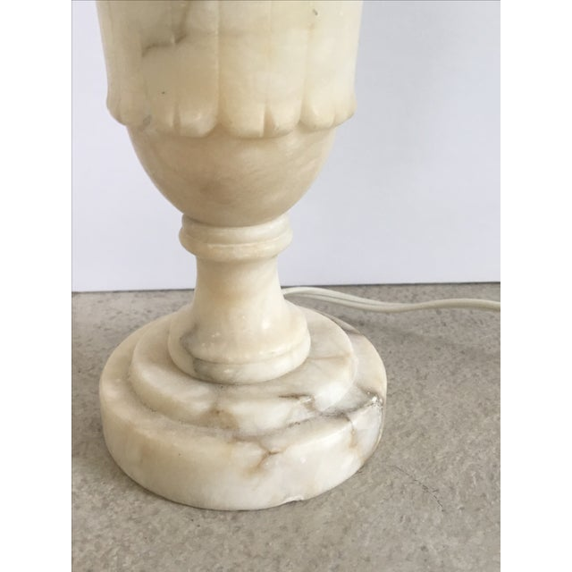 Image of Antique 1920s Alabaster Table Lamp