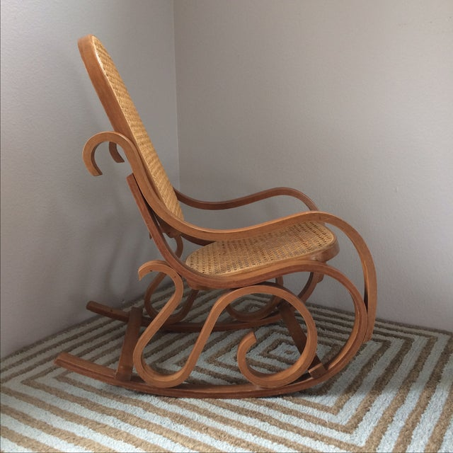 Vintage Bentwood & Cane Child's Rocking Chair - Image 4 of 10