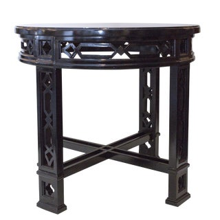 Chippendale Black Painted Side Table