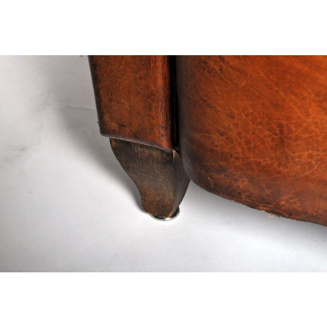 Art Deco Leather Club Chair - Image 11 of 11
