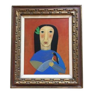 "Contemporary Folk Painting ""Robin"""