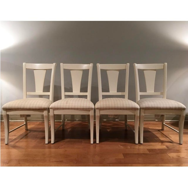 Kincaid Upholstered Wood Dining Chairs Set Of 4 Chairish