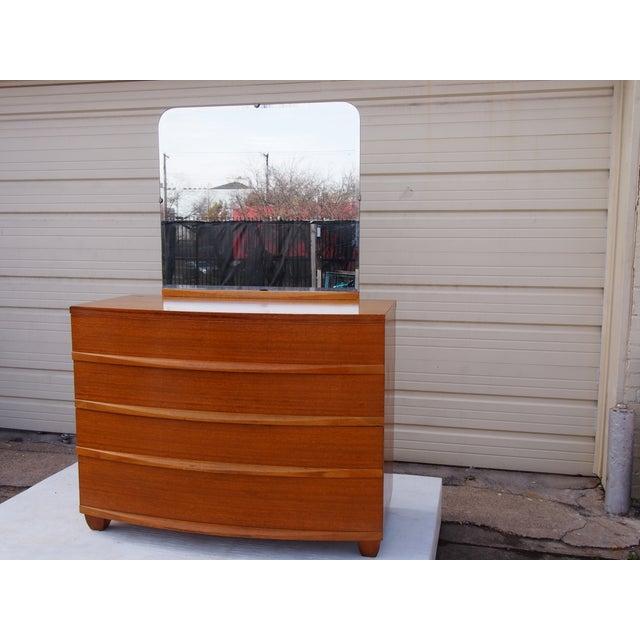 Randolph Mahogany Bedroom Dresser and Mirror - Image 2 of 3