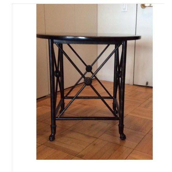 Black Granite Top Accent Table - Image 4 of 5