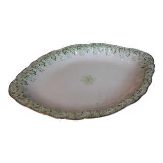 Antique English Upper Hanley Semi Porcelain Platter - Florence Pattern