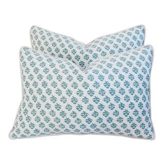 Italian Fortuny Persiano Pillows - A Pair