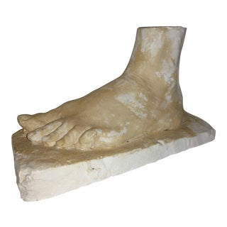 Vintage Plaster Cast of a Human Foot