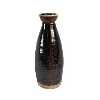 Village Black Ceramic Vase