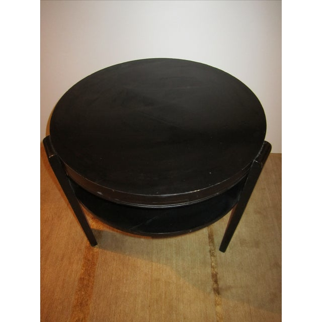 Image of Antique Black Two-Tier Art Deco Side Table