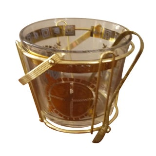 Regal Ice Bucket & Claw Ice Tongs