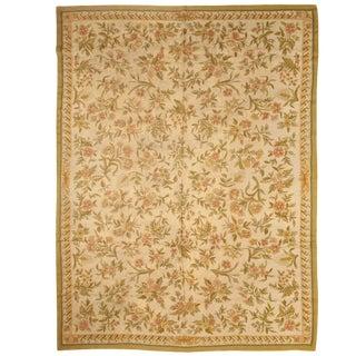 Antique Indian Nundah Hand Stitch Carpet