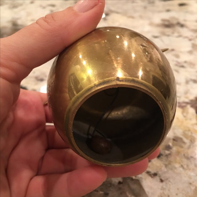 Vintage Brass Apple Bell - Image 5 of 6