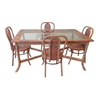 Rattan Dining Table and 6 Chairs