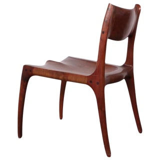 Sculptural Walnut Craft Chair by Rick Pohlers