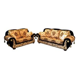 Versace Design Inspired Italian Sofa & Loveseat