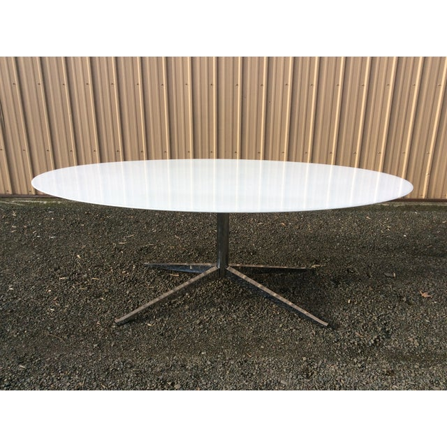 Florence Knoll Table Special Order Thassos Marble - Image 3 of 10