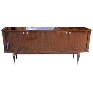 Circa 1940s French Art Deco Macassar Ebony Buffet