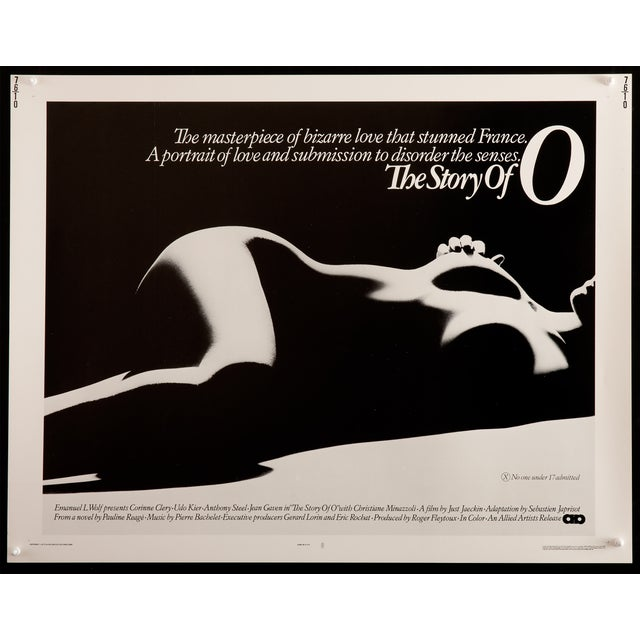 "Vintage 1975 ""The Story of O"" Film Poster 