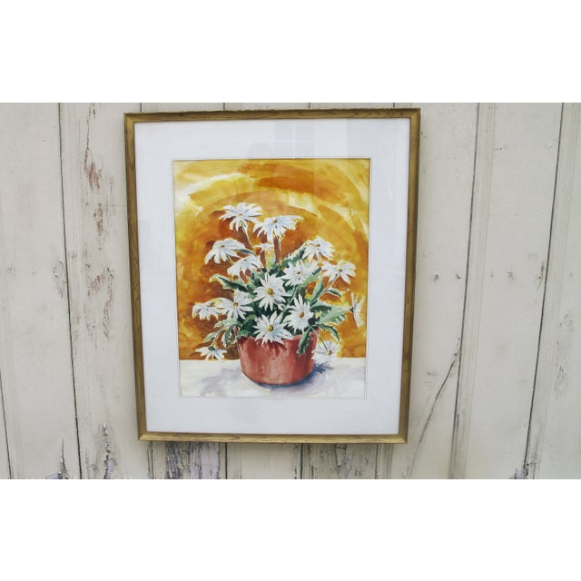 Image of 1960s Daisy Water Color