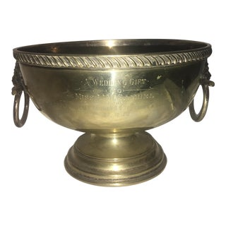 English Wedding Gift Silver Plate Trophy Cup