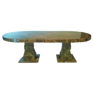 Mid Century Muller of Mexico Onyx Dining Table