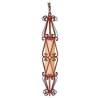 Mid-Century Wrought Iron Pendant Light
