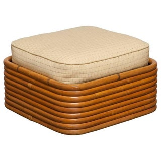 Paul Frankl Stacked Rattan Ottoman
