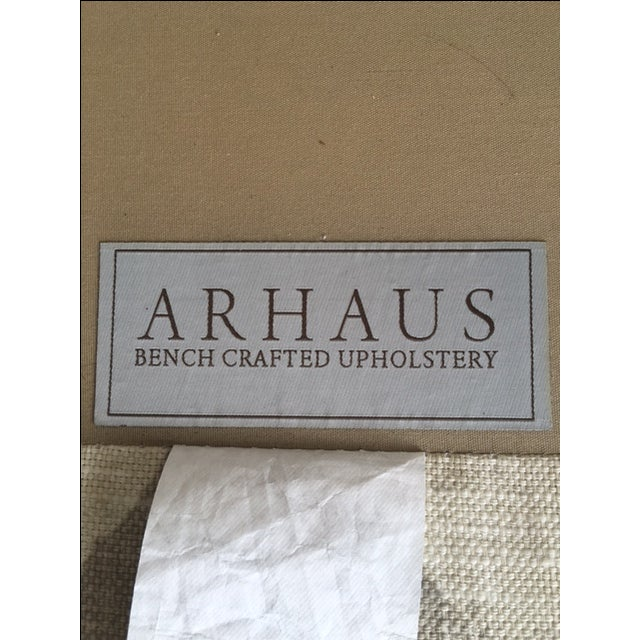 Arhaus Upholstered Plazza Wing Chairs - A Pair - Image 5 of 6
