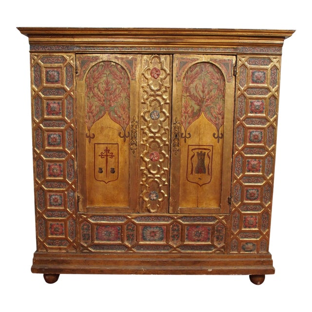 Italian Polychrome Two Door Cabinet - Image 1 of 11