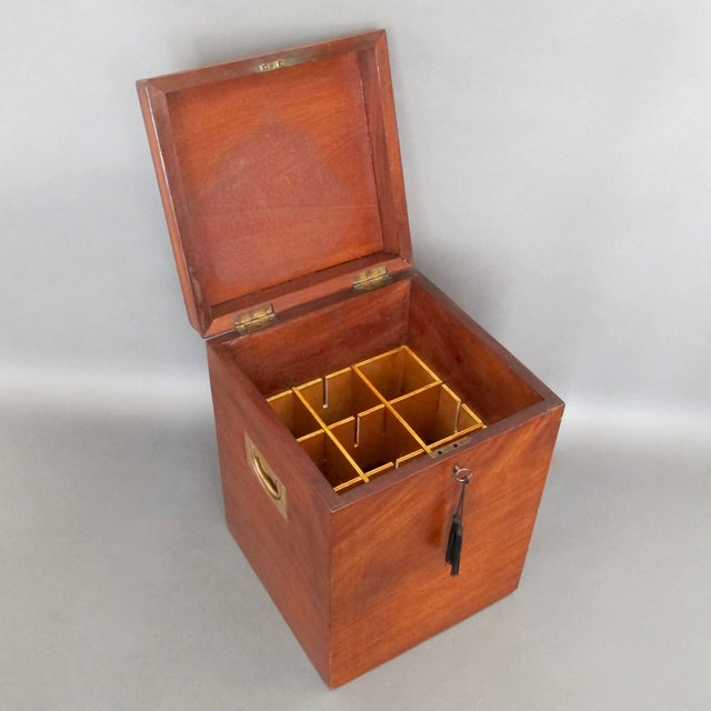 Antique English Mahogany Wine Box - Image 8 of 11