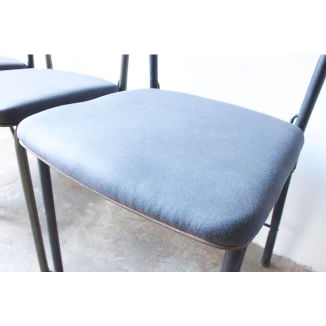 Image of Metal & Waxed Canvas Side Chair