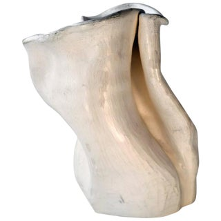 White Abstract Pottery Vase