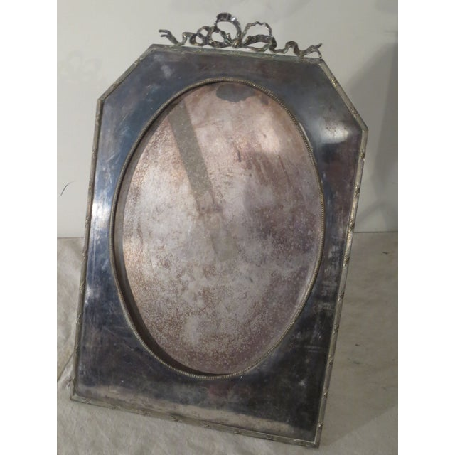 Large 19th Century Silverplate Picture Frame - Image 2 of 7
