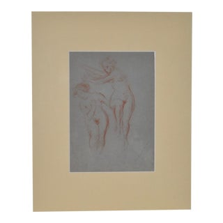 1920s Vintage Red Chalk Figurative Nudes Drawing by Granville Seymour Redmond