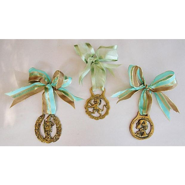 English Brass Horse Ornaments - Set of 3 - Image 2 of 6