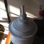 Image of White Ceramic Jar With Top