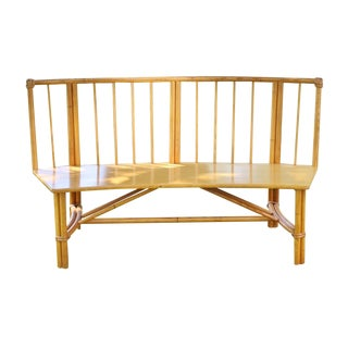 Heywood-Wakefield Art Moderne Curved Bench