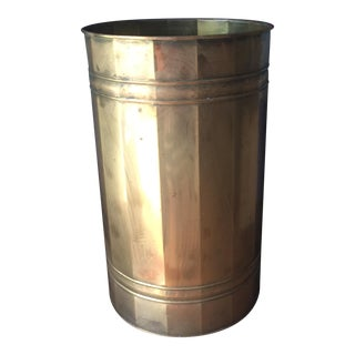Brass Reticulated Wastebasket