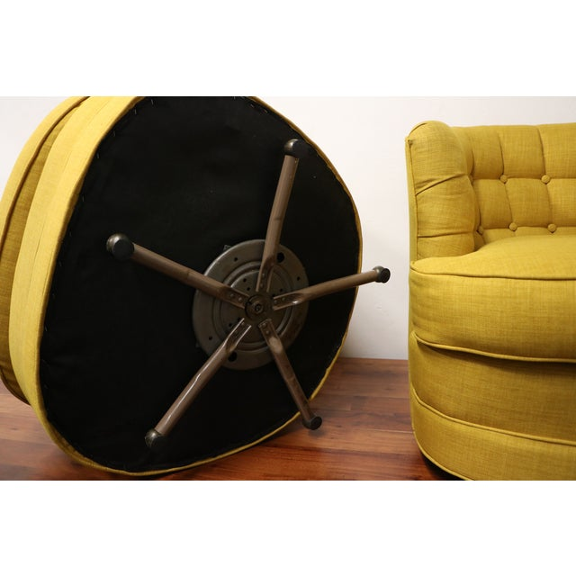 Tufted Swivel Chairs - Pair - Image 5 of 5