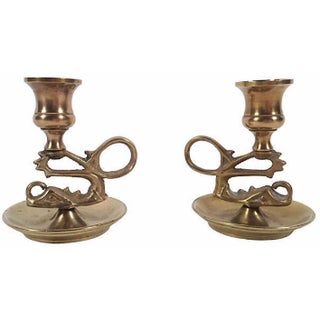 Serpentine Candleholders - A Pair