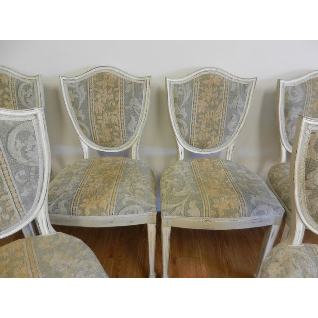 Shield Back Dining Chairs - Set of 6 - Image 3 of 8