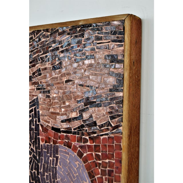 Cubist Glass Mosaic Wall Sculpture - Image 7 of 11